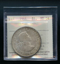 1964 Canada Silver Dollar ICCS Certified MS64 DCB125