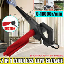 Cordless Blower Vacuum Leaf Dust Tool Yard Garden Car For Makita 18V Battery