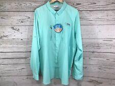 Columbia Pfg Mens Mint Green Terminal Tackle Upf 50 L/S Button Shirt Size Xl Nwt