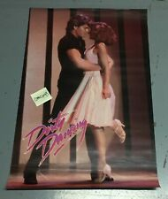1987 Vintage Dirty Dancing Patrick Swayze Jennifer Grey Poster Duet 23x35 inches