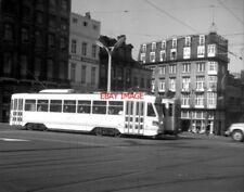 PHOTO  BELGIUM TRAMS 1959  RUE ROYALE STIB BOGIE CAR TRAM  NO 5021 ON ROUTE PCC
