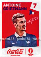"""RARE !! ANTOINE GRIEZMANN Coca-Cola Sticker """"EURO 2016"""" Panini"""