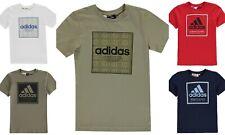 adidas 2019 Box Linea Junior T Shirt Boys Short Sleeve Crew Neck Top  AGE 7-- 13
