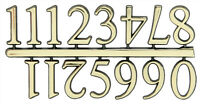 NEW Classic Gold Clock Numerals -Numbers 1-12 - Stick On - Choose 5 Sizes!