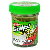 "Berkley Gulp Alive Scented Minnow Bait 1"" Watermelon Pearl 2.10 oz Jar 1160754"