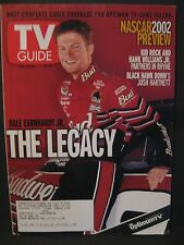 NASCAR Dale Jr. TV Guide 2002 Includes Dale Earnhardt Sr Playing Cards For Free