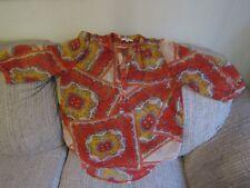 Ladies UMGEE Sheer 3/4 Sleeve Blouse Top Size Medium