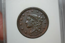 1838 Coronet Head Large Cent- ANACS AU Details.  Cleaned.