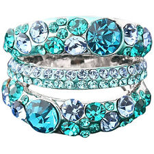Women's Cubic Zirconia Ring Alloy Band Rhinestone Crystal Jewelry Gift Hot Sale