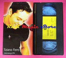 VHS TIZIANO FERRO International epk 2002 CARTONATA EMI  no mc dvd lp (VM8)