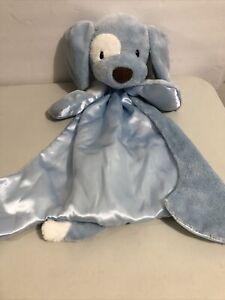 """Baby Gund SPUNKY HUGGYBUDDY Blue DOG 15"""" Lovey / Security Blanket Plush Toy"""