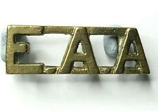 WW2 Commonwealth East African artillery Shoulder title Locally cast brass