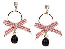 Bow Studs Rhinestone New Season Ella Jonte Earrings Gold Black Red