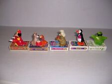 1998 Lot of 5 McDonald's Happy Meal Disney VHS Rolling Mobil Figurine Toys