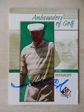 Tom Weiskopf Autographed 2001 Upper Deck SP Golf Card