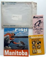 Manitoba Canada Hunt Fish Vacation Accommodation Guide Brochure Lot Of 3 1965