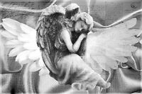 STUNNING SILVER ANGEL 😇 CANVAS #55 ROMANTIC VINTAGE LETTERS WALL ART A1 CANVAS