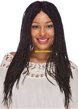 LONG TWIST DARK BROWN FULL LACE FRONT WIG NOT BRAIDED HAIR PIECE #2 NWT