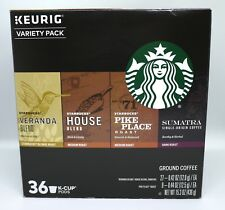 STARBUCKS COFFEE VARIETY PACK COFFEE KEURIG (36 K-CUP) NEW IN RETAIL BOX!