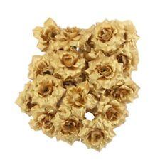 100Pcs Artificial Fake Rose Silk Flower Head Wedding Party Garden Home Decor US