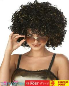 Disco Glitter Afro Costume Wig Curly Disco 1960s 1970s Groovy Retro Funky
