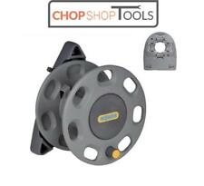 HOZELOCK 30m Compact Hose Pipe Storage Wall Mounted Reel + Reel Guide HOZ2420