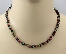 Turmalin Kette - Turmalin Kristalle rosa grün Halskette für Damen 46 cm