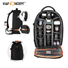 K&F Concept Large DSLR Camera Backpack Laptop Padded Bag For Canon Nikon Sony