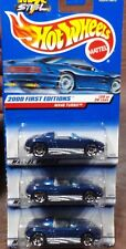 2000 HOT WHEELS 1/64 MX48 TURBO BLUE 080 FIRST EDITION FE 20 SET LOT OF 3 NEW