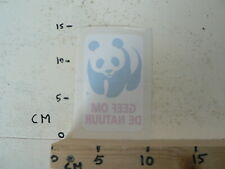 STICKER,DECAL PANDA GEEF OM DE NATUUR WWF WORLS WILDLIFE FUND WINDOW STICKER