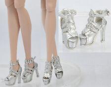 Doll Silver Shoes for Fashion Royalty FR2 Poppy Parker,DG,Momoko 26*8 MM 17FR4