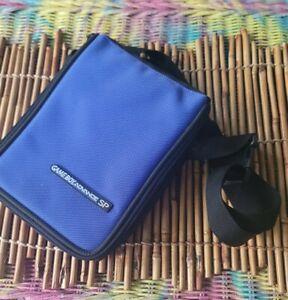 Nintendo Gameboy Advance SP Carry Case Blue  w/ Strap