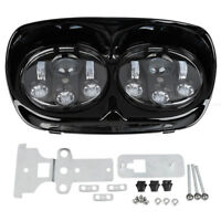 """5 3/4"""" Dual LED Projector Headlight HeadLamp For Harley Road Glide 98-13"""