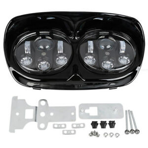 """5 3/4"""" Dual LED Projector Headlight HeadLamp Fit For Harley Road Glide 1998-2013"""
