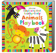Usborne Baby's Very First Touchy Feely Animals Play Book (bb) NEW