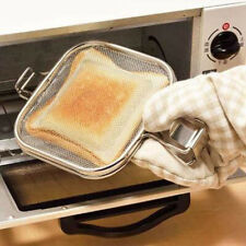 New listing Sandwich Maker Iron Bread Toast Waffle Pancake Baking Bbq Oven Grill Frying Pan~