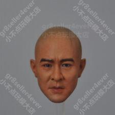 1/6 Head Sculpt Jet Li The Warlords Fearless Asia Kung fu star not braids 李连杰
