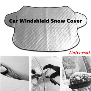 1X Silver Car Windshield Cover Sun Shade Protector Winter Snow Dust Frost Guard