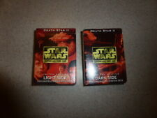 Star Wars CCG Card Game Death Star II Starter Deck Lot of 2 Light & Dark Side
