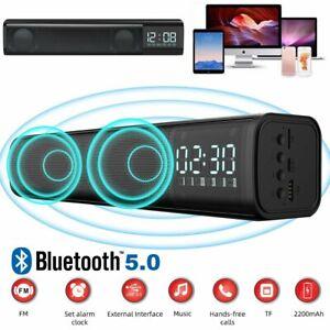 TV Soundbar Bluetooth 5.0 Subwoofer Lautsprecher FM Radio Super Bass TF Soundbox