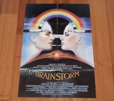"ORIGINAL MOVIE POSTER ""BRAINSTORM"" 1983 UK FOLDED ONE SHEET CHRISTOPHER WALKEN"