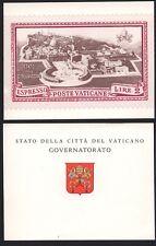 VATICANO CARTOLINA GOVERNATORATO IMMAGINE FRANCOBOLLO (B9)