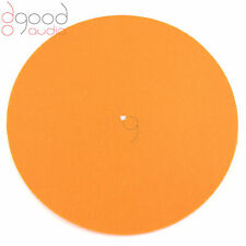 Quality Orange Coloured Felt Turntable Platter Mat, Record Hi-Fi Fit P1,P2,P3,P5