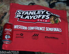 CHICAGO BLACKHAWKS  2013 WORLD CHAMPIONS 12 OZ COCA  COLA CAN FULL & 2013 PLAYOF