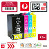 4X Ink Cartridge 252XL For Epson WF-3620 WF-3640 WF-7610 WF-7620 Workforce Print