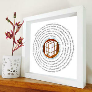 Elbow - One Day Like This - framed song lyrics - any song - The Seldom Seen Kid