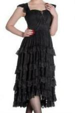 Vintage Inspired Black Lace Dress 1940s 1950s Steampunk Gothic Hell Bunny