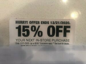 15% Off Home Depot Coupon -- In-Store Only, Save up to $200 -- Expires 12/21/20