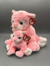 Ty Beanie Buddy and Babies Bundle Carnation the Cat Pair Plush Stuffed Animal