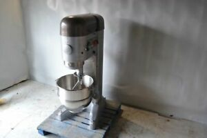 Used Hobart M-802 80Q Commercial Mixer,New Stainless Steel Bowl,Free Shipping